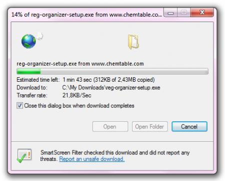 Downloadding Reg Organizer (Pic 3)